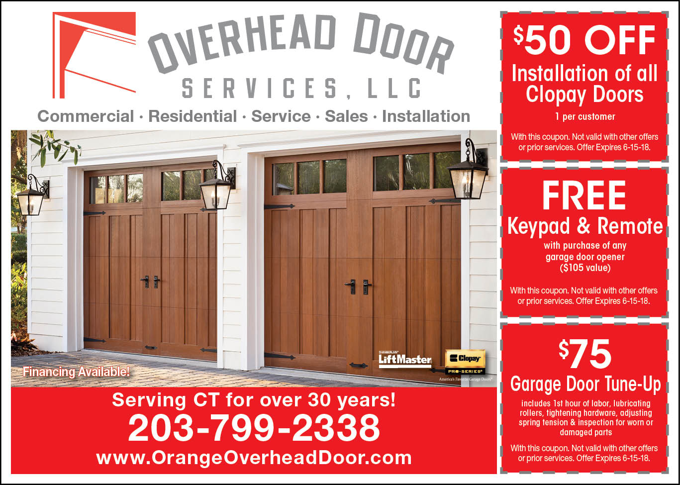 Beau Specials And Promotions Orange Ct Overhead Door Services